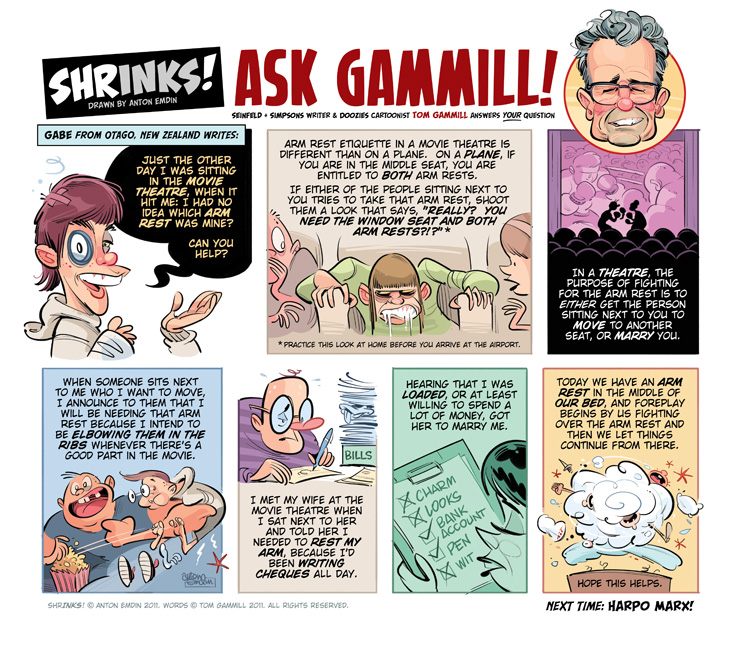 Shrinks! Ask Gammill © Anton Emdin 2011. Words © Tom Gammill 2011. All Rights Reserved.