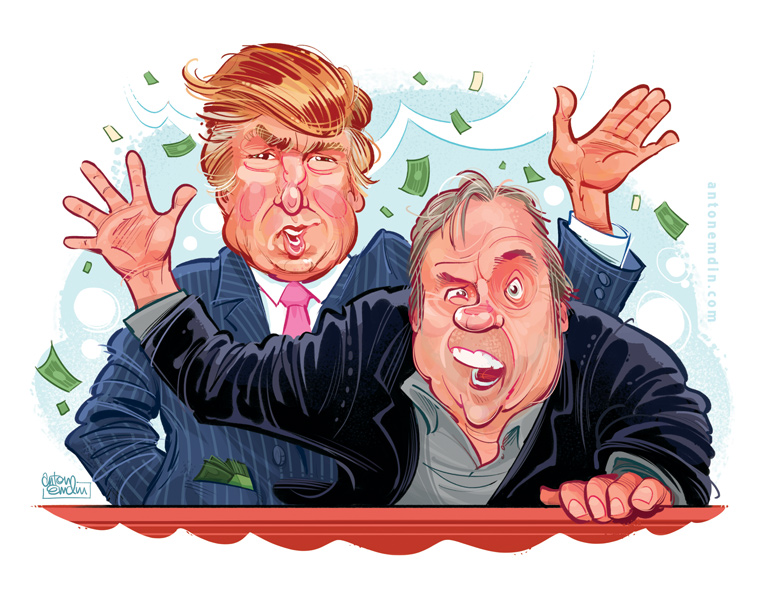 Donald Trump and Meatloaf for MAD Magazine by Anton Emdin © EC Publications 2011