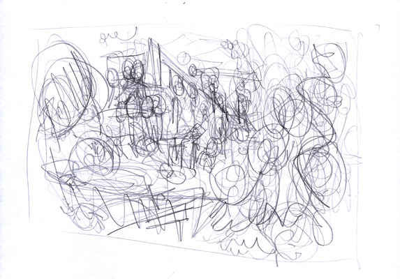 House Party illustration thumbnail rough © Anton Emdin 2011