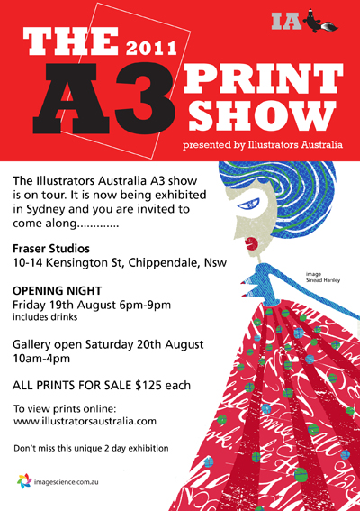 Illustrators Australia A3 Show 2011 invite