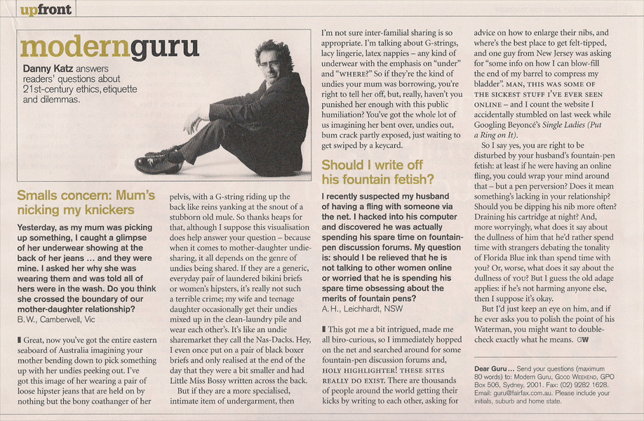 Modern Guru article 30 May 2009