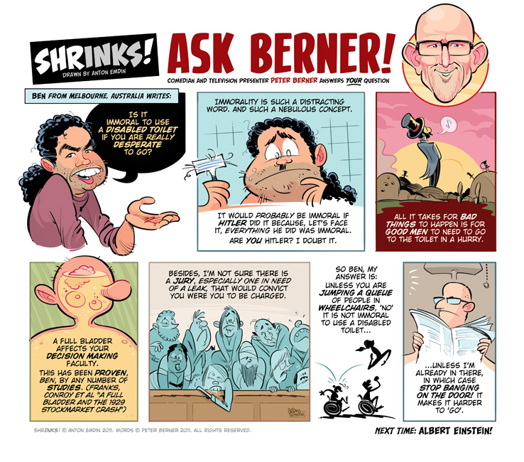 Shrinks! Ask Berner! © AntoShrinks! Ask Berner! © Anton Emdin 2011. Words © Peter Berner 2011. All Rights Reserved.