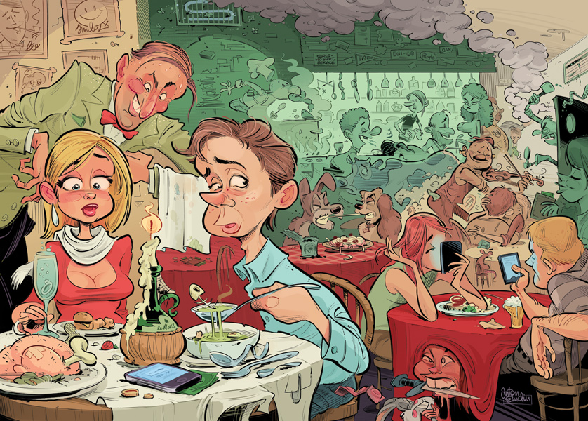 First Date illustration © Anton Emdin 2011