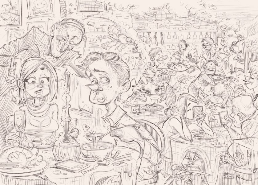 First Date illustration development © Anton Emdin 2011