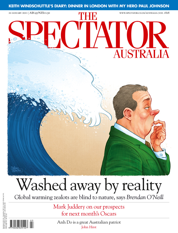 'Flooded' cover art for The Spectator Australia © Anton Emdin 2011