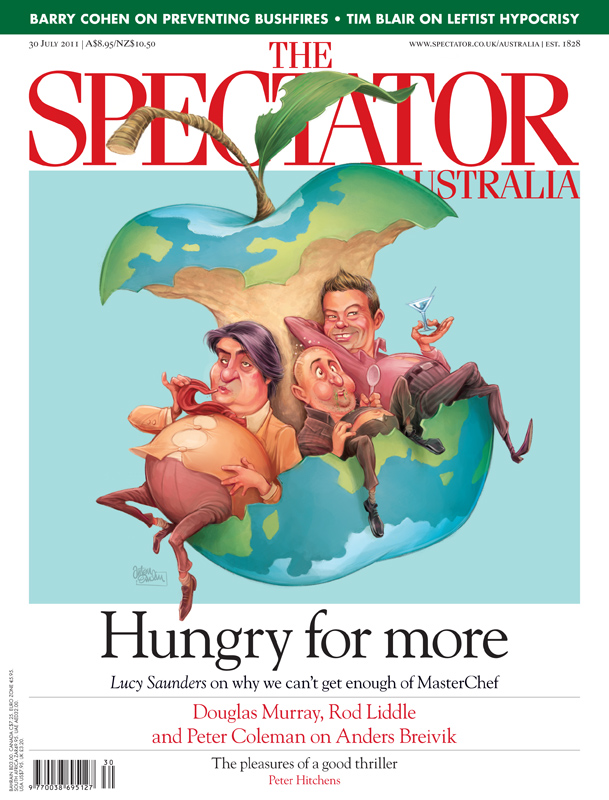Masterchef cover art for The Spectator Australia © Anton Emdin 2011