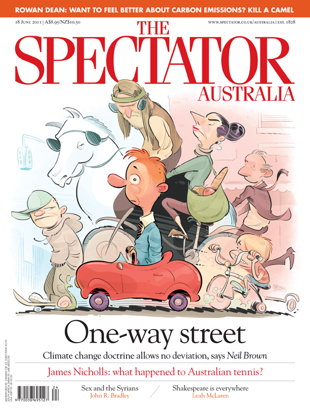 'Odd One Out' cover art for The Spectator Australia © Anton Emdin 2011