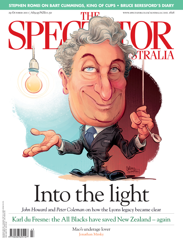 Joe Lyons cover art for The Spectator Australia © Anton Emdin 2011. All rights reserved.