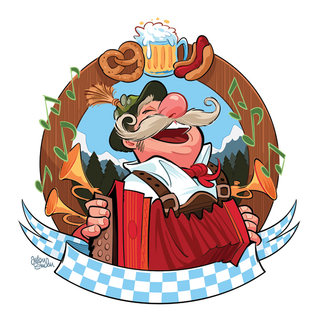 Oktoberfest illustration © Anton Emdin 2011