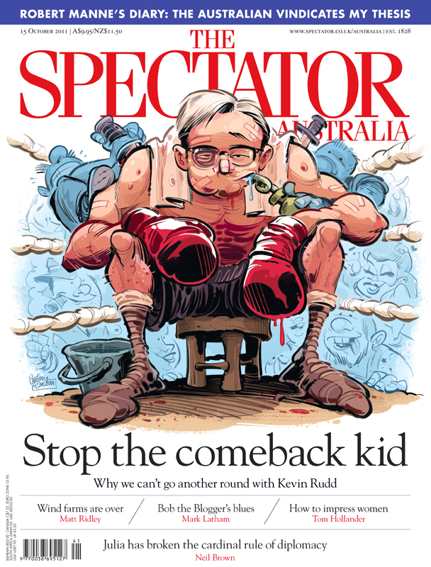 'Rocky Rudd' cover art for The Spectator Australia © Anton Emdin 2011