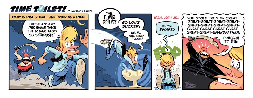 Time Toilet #5 comic strip © Anton Emdin 2011 - All rights reserved