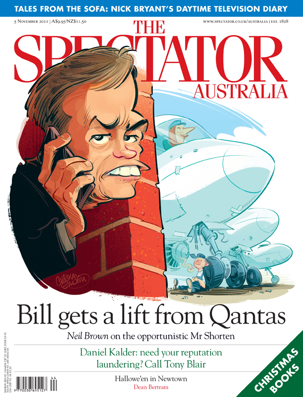 Bill Shorten and Qantas cover art for The Spectator Australia © Anton Emdin 2011. All rights reserved.