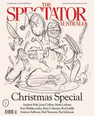 Christmas Special cover art (sketch) for The Spectator Australia by and © Anton Emdin 2011. All rights reserved.