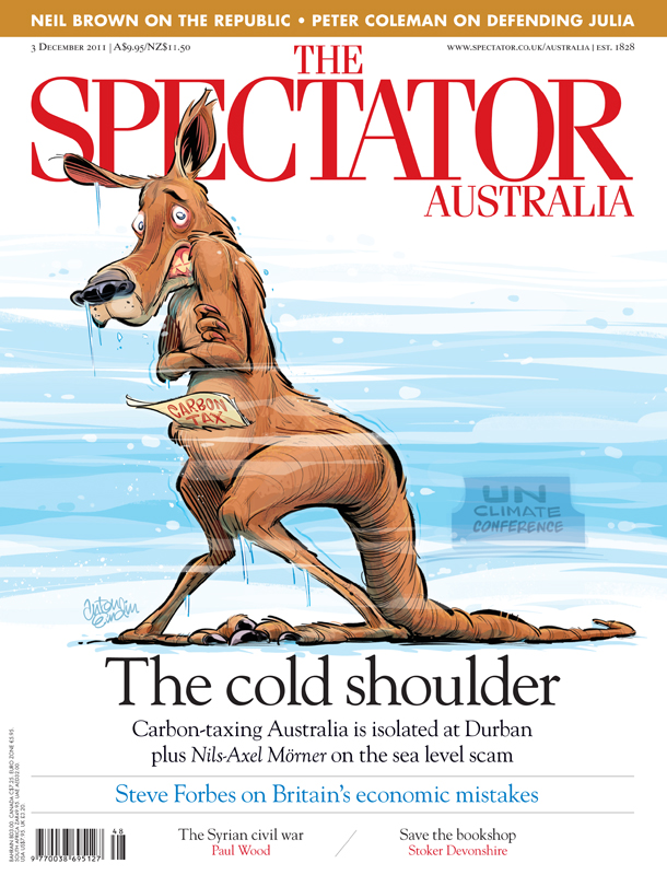 Cool Roo cover art for The Spectator Australia © Anton Emdin 2011