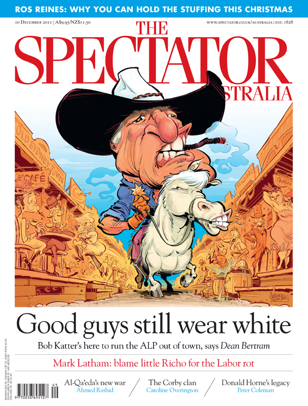 """Cowboy Katter"" cover art for The Spectator Australia © Anton Emdin 2011. All rights reserved."
