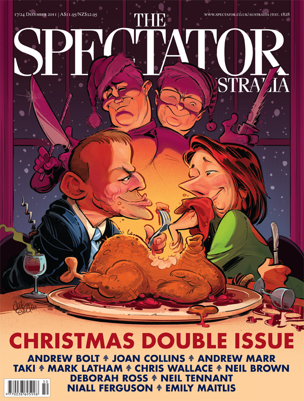 Christmas Special cover art for The Spectator Australia by and © Anton Emdin 2011. All rights reserved.