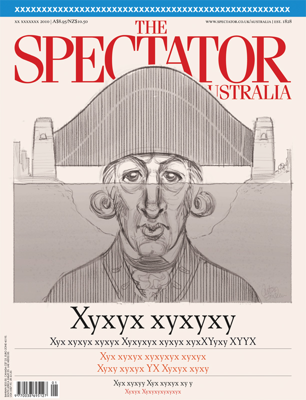 'Captain Arthur Phillip' illustration (sketch) for The Spectator Australia. Illustration © Anton Emdin 2012. All rights reserved.