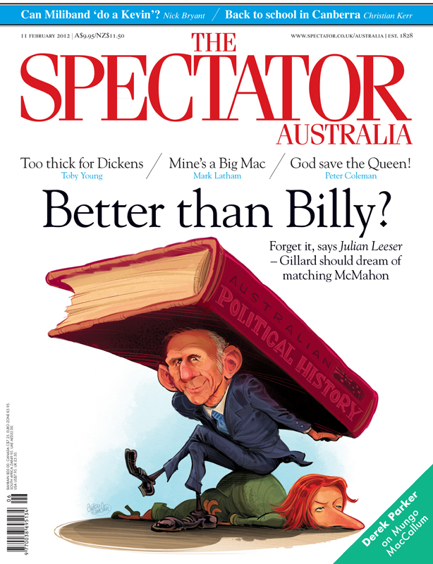 McMahon and Gillard cover art for The Spectator Australia © Anton Emdin 2012.  All rights reserved.