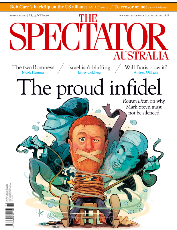 Mark Steyn cover art for The Spectator Australia © Anton Emdin 2012