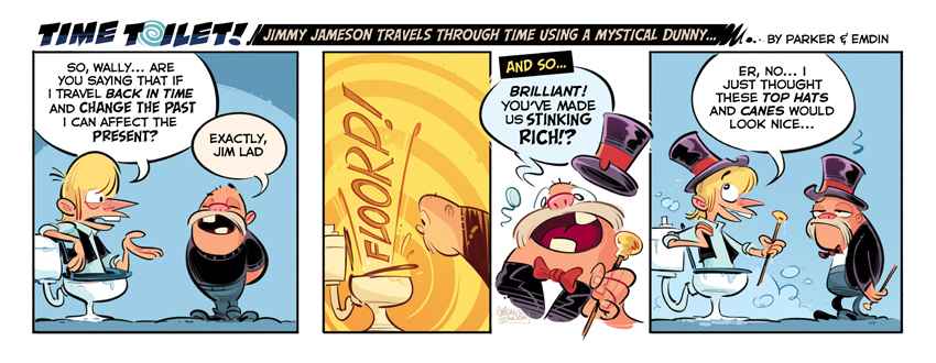 Time Toilet #19 comic strip © Anton Emdin 2011 - All rights reserved