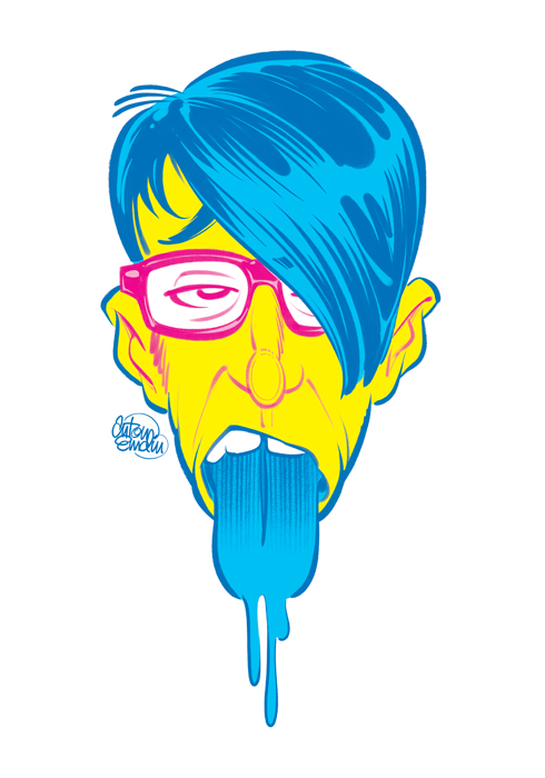 'Blue Tongued Hipster' art © Anton Emdin 2012. All rights reserved.