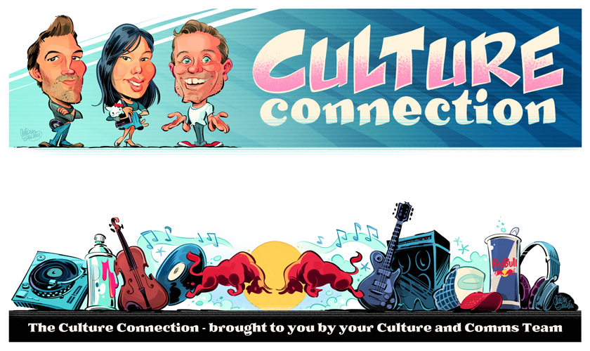 Redbull Culture Connection caricatures and illustration for newsletter © Anton Emdin 2012