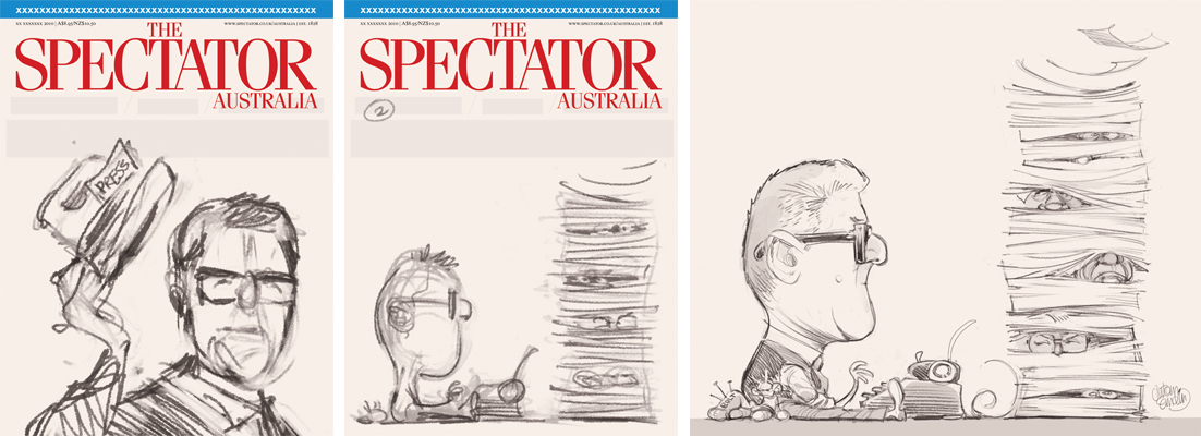 David Marr cover art for The Spectator Australia © Anton Emdin 2012. All rights reserved.