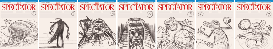 Judge Illustration thumbnails for The Spectator (UK) © Anton Emdin 2012.  All rights reserved.