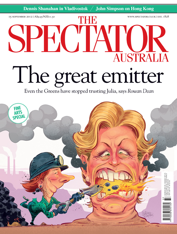 Emissions cover art for The Spectator Australia - Illustration © Anton Emdin 2012.  All rights reserved.