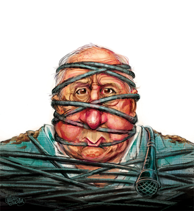 Alan Jones Illustration for The Spectator Australia © Anton Emdin 2012.  All rights reserved.