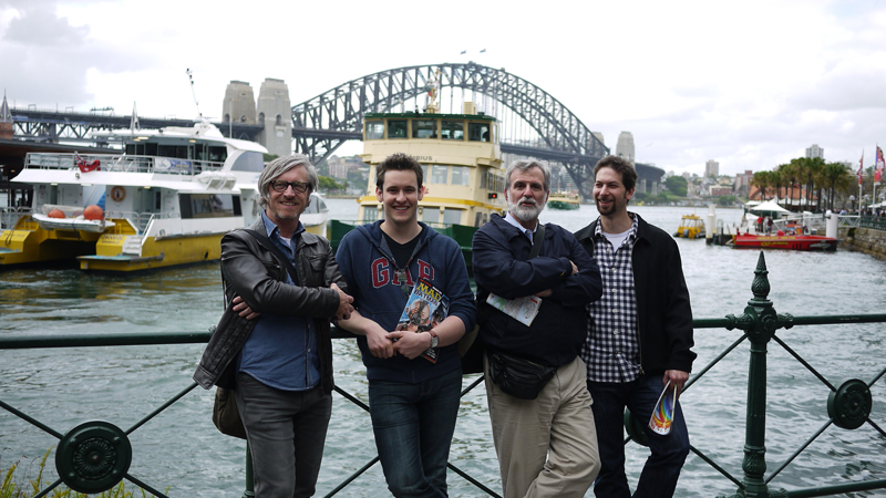 Dave Williams, Jason Chatfield, Sam Viviano, Anton Emdin, Sydney 2012.  Photo © Jason Chatfield 2012.