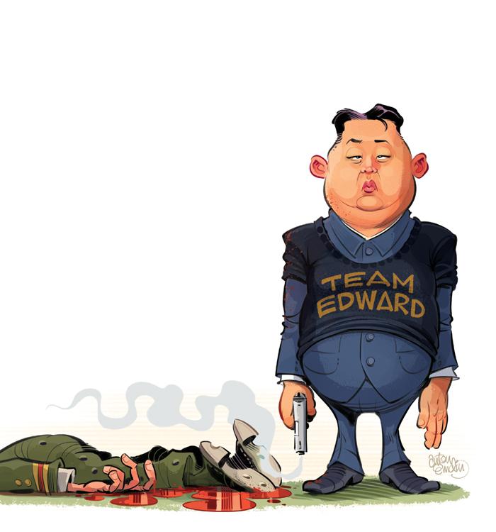 Kim Jong Un illustration for MAD magazine. Drawn by Anton Emdin © EC Publications 2012.