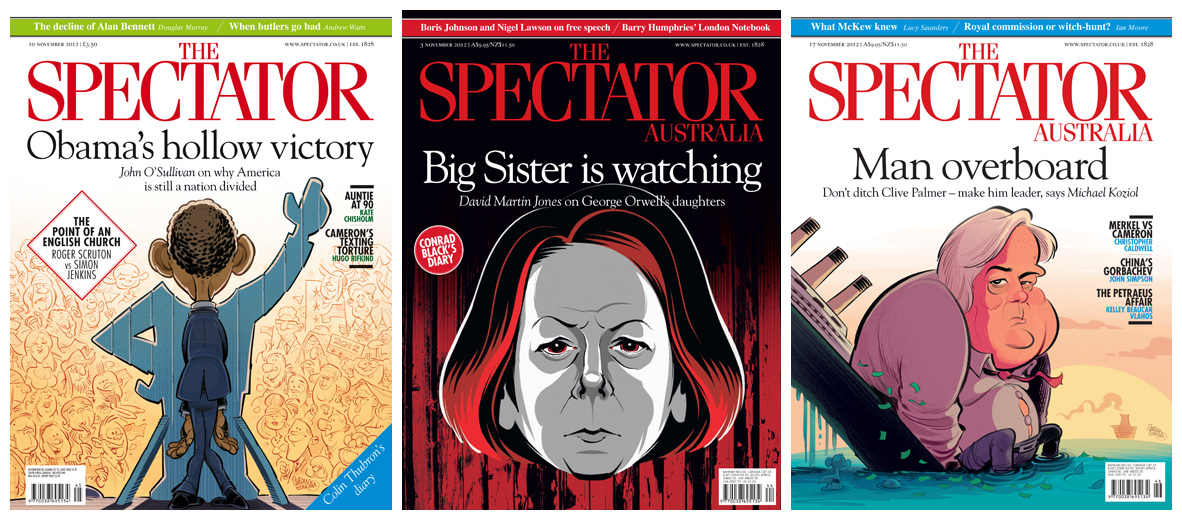 November Spectator cover art by and © Anton Emdin 2012.  All rights reserved.