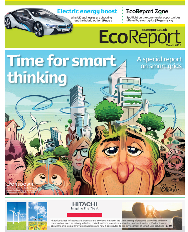'Smart Grid' cover art for EcoRepot by Lyonsdown © Anton Emdin 2013.  All rights reserved.