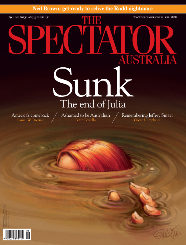 """Sunk!"" Spill art for The Spectator Australia Illustration © Anton Emdin 2013.  All rights reserved."