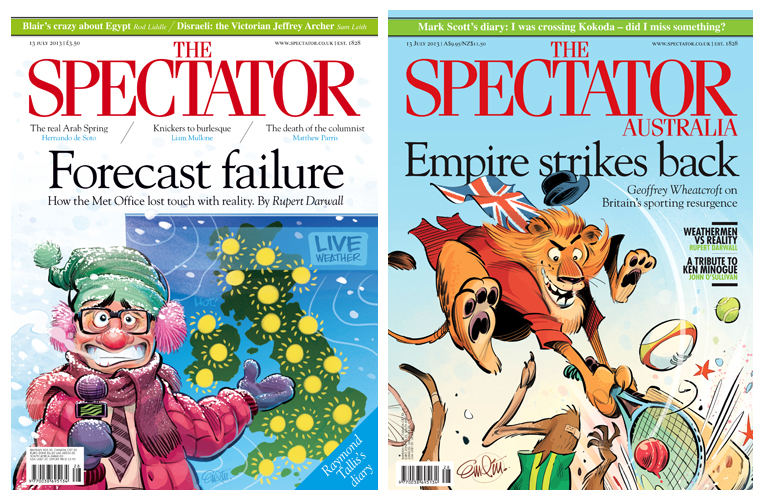 Empire Strikes Back and Forecast Failure UK and Australian Spectator cover art by © Anton Emdin 2013.  All rights reserved.