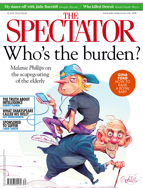 'Young and Old' cover art for the Spectator (UK) -- Illustration © Anton Emdin 2013.  All rights reserved.