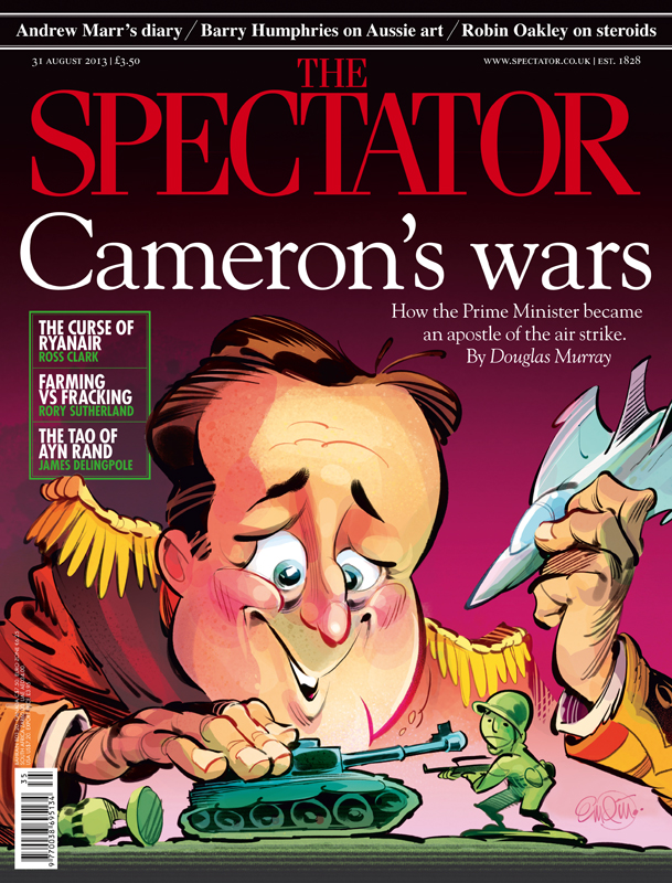 'Cameron's Wars' cover art for The Spectator -- Illustration © Anton Emdin 2013.  All rights reserved.