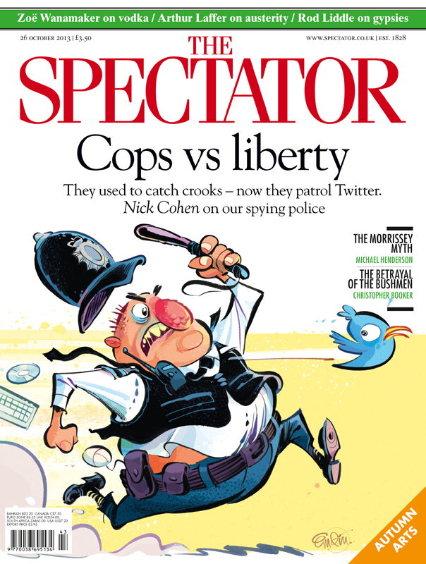 'Copper Twit' cover art for The Spectator (UK). Illustration © Anton Emdin 2013. All rights reserved.