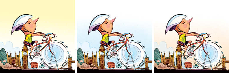 London Cyclists (colourway) Illustration for The Spectator © Anton Emdin 2013.  All rights reserved.