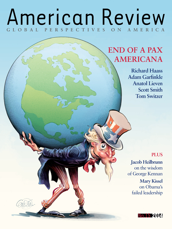 'End of a Pax Americana' cover art for American Review Magazine.  Illustration © Anton Emdin 2014.  All rights reserved.