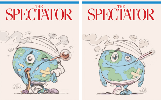 Cover art (sketches) for The Spectator -- Illustration © Anton Emdin 2014.  All rights reserved.