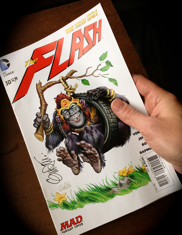 Signed copy of Flash #30 by Anton Emdin