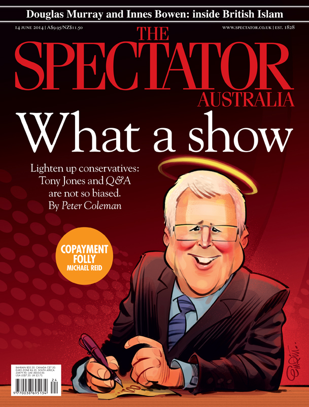Q&A cover art for The Spectator Australia. Illustration © Anton Emdin 2014.  All rights reserved.