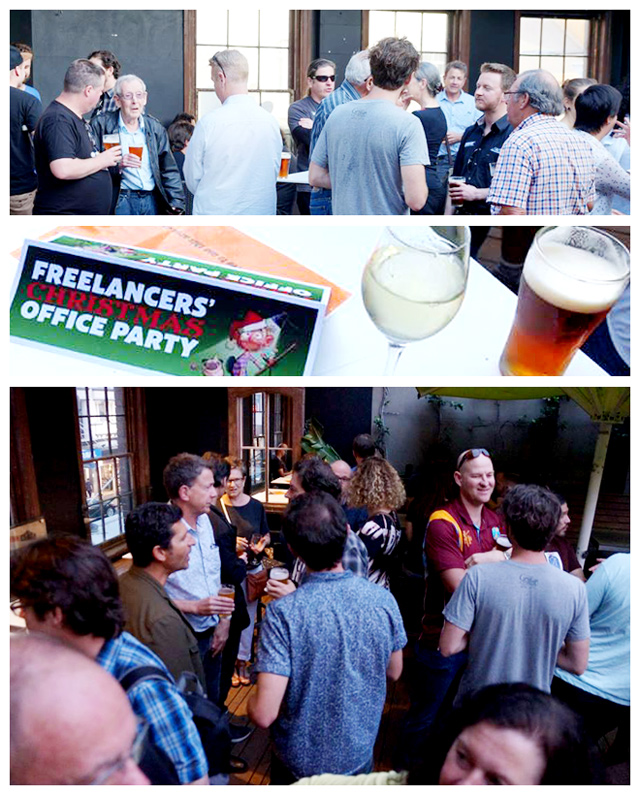 Freelancers Christmas Party 2015, Coopers Hotel, Sydney