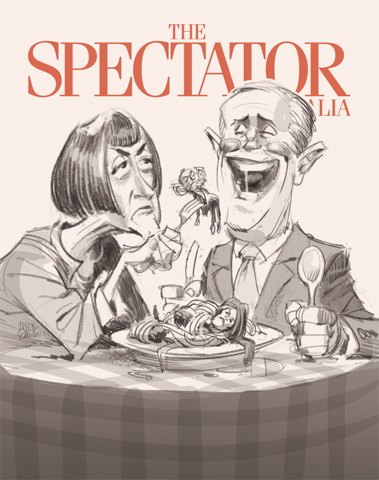Cover art for The Spectator -- Illustration © Anton Emdin 2016. All rights reserved.