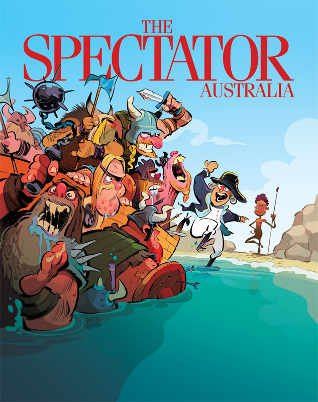Invasion! Cover art for The Spectator -- Illustration © Anton Emdin 2016. All rights reserved.