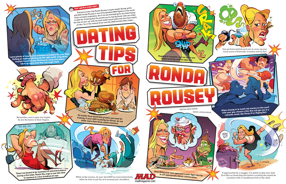 'Dating Tips for Ronda Rousey' from MAD #540