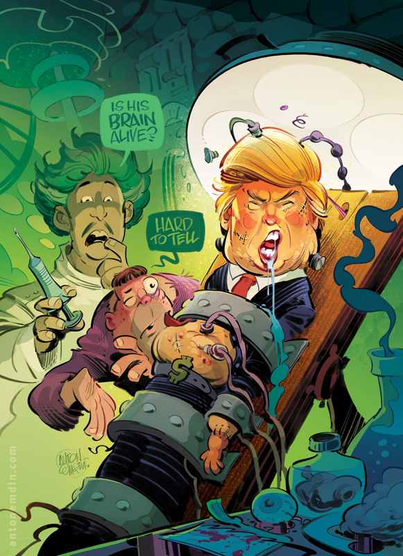 Un-dead Trump, Australian Penthouse Winter 2016
