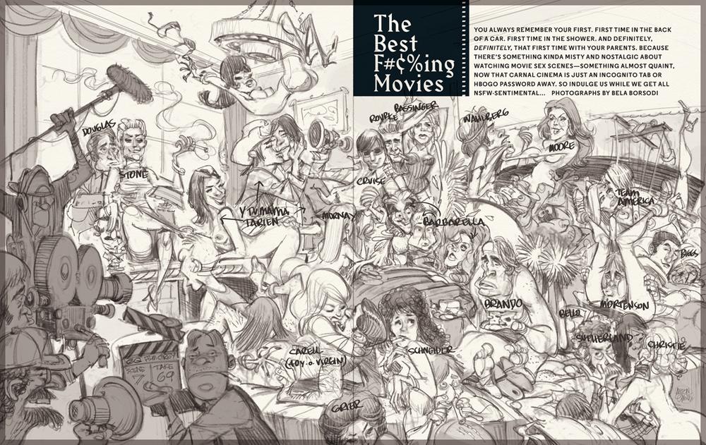 Cartoon sex orgy